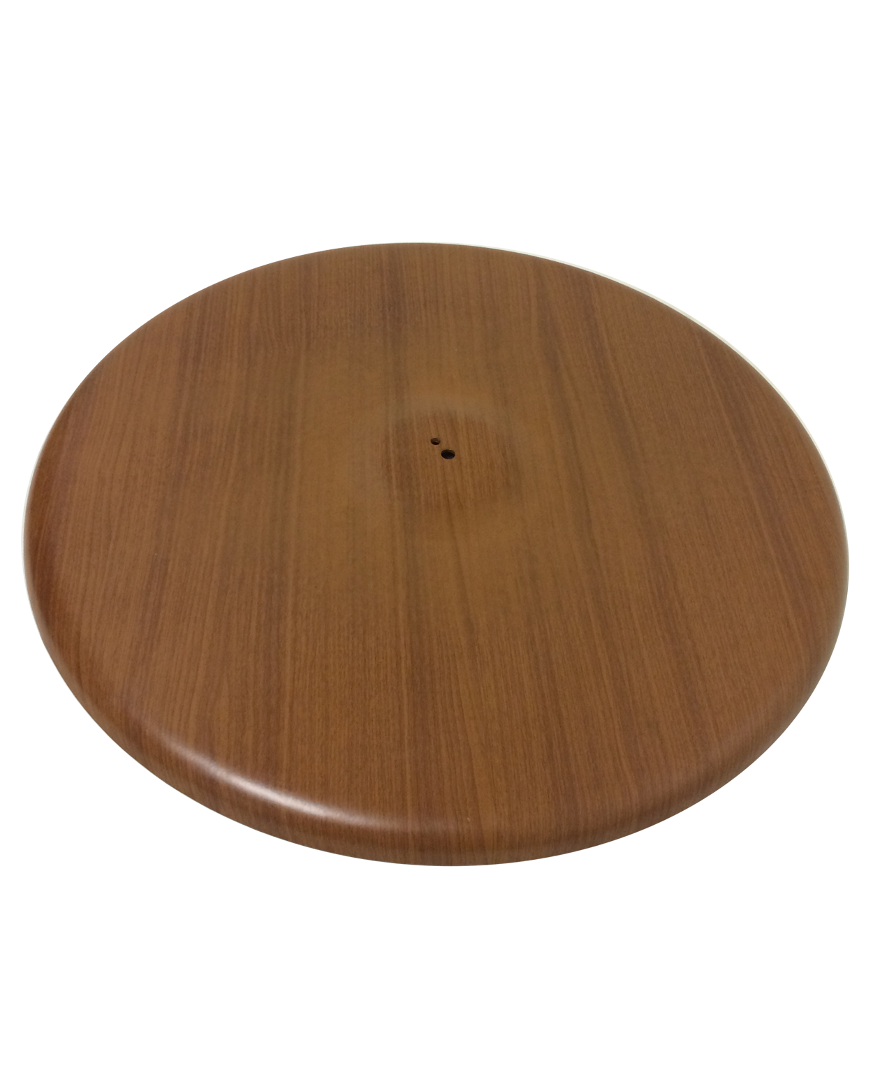 Stamped Steel Quick Ship WoodGrain Inch Round Table Base - 30 inch table base