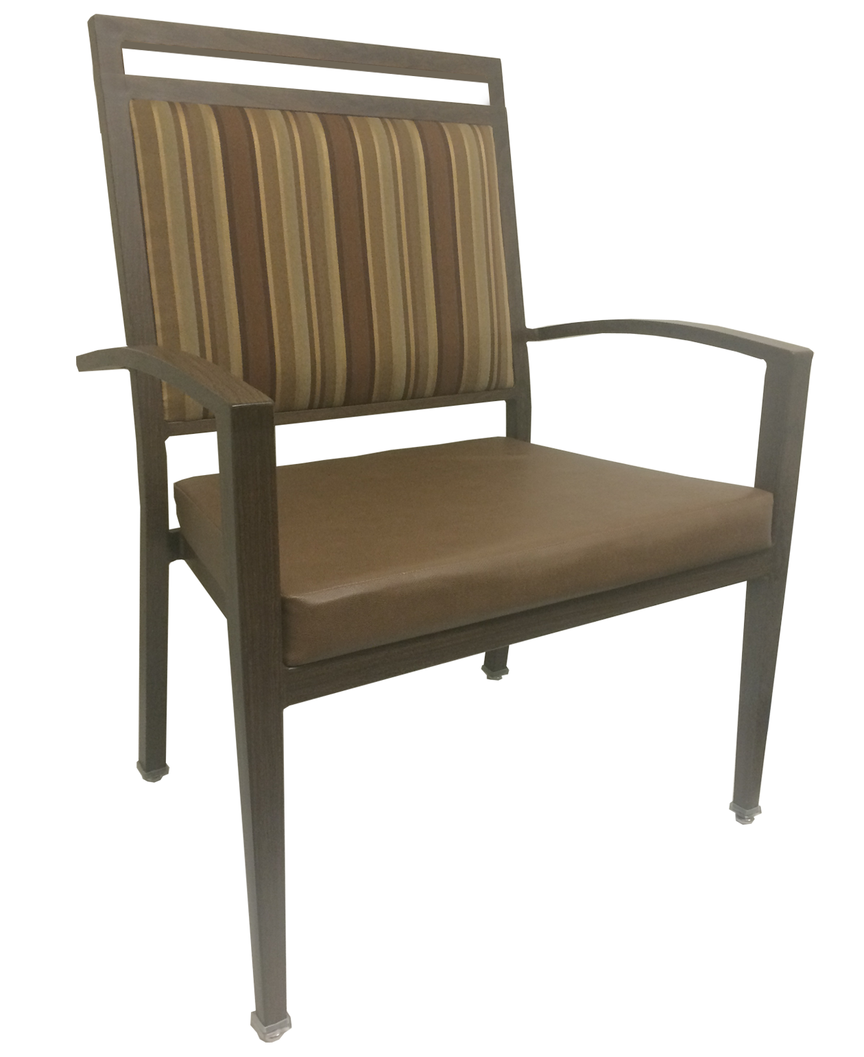 Aluminum Wood-Grain Bariatric Chairs