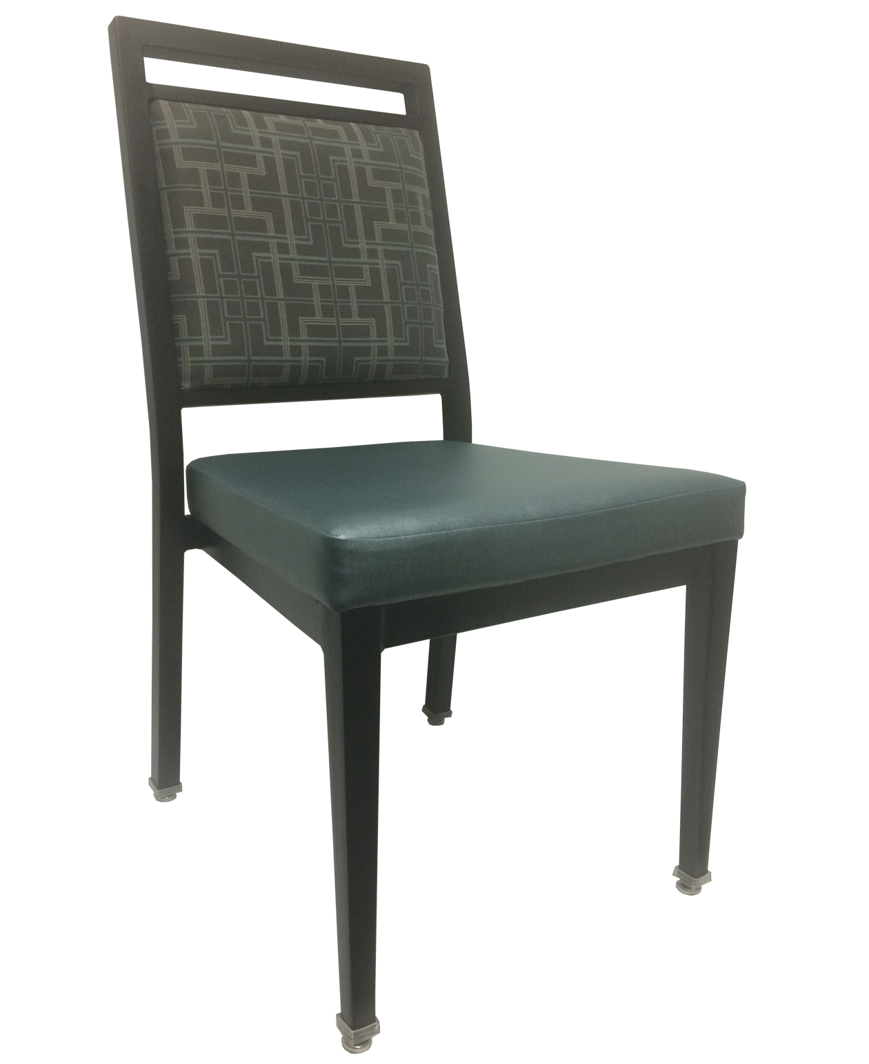 Aluminum Wood-Grain Side Chairs