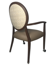 AC-931 Garland Arm Chair F10 Burch Melody Oat 1009168 Burch Liberty Taupe 1008523 Rear View
