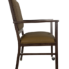 AC-709 McMahon ALuminum Arm Chair Side View with Casters
