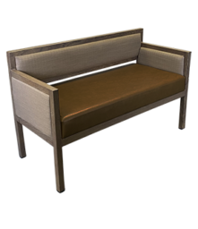 Aluminum Wood-Grain Settees/Sofas