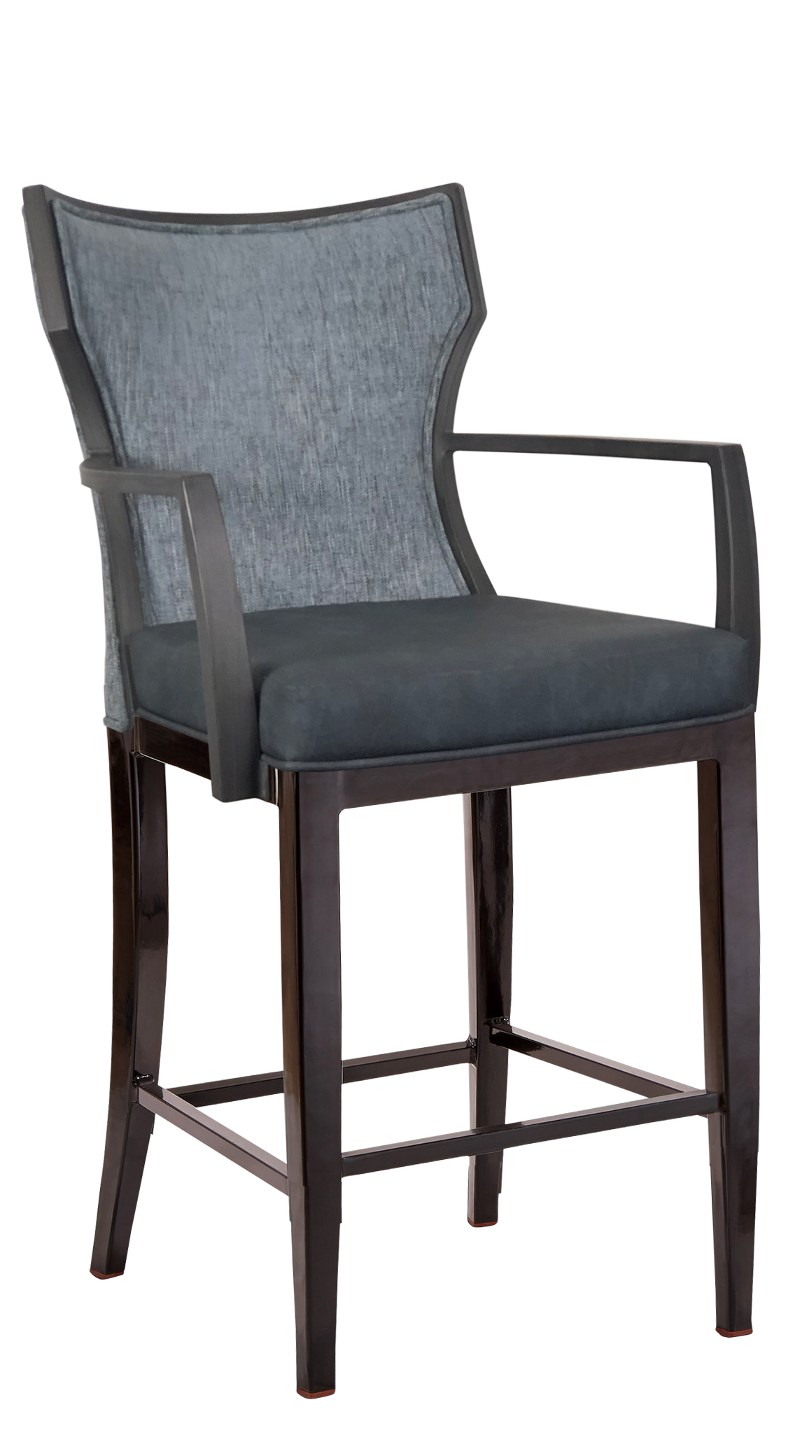 BS-417-WA-24 Bryant Counter Stool With Arms Artist Rendering