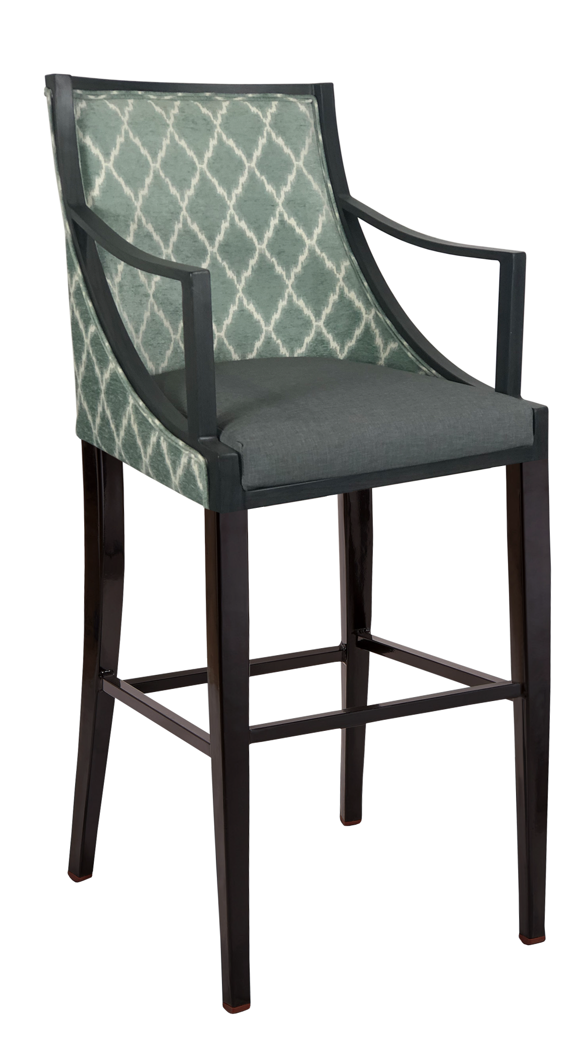 BS-734-WA Payton Bar Stool With Arms Artist Rendering